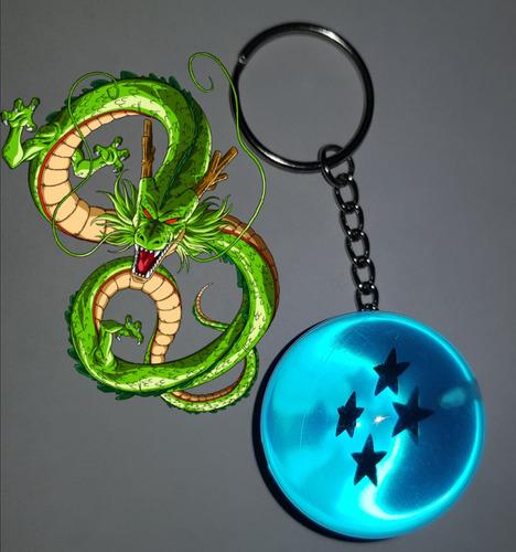 llavero dragon ball esfera azul 4 estrellas