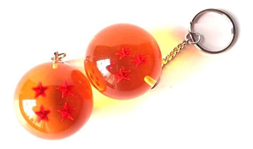 llavero dragon ball z esfera del dragon de 4 estrellas goku