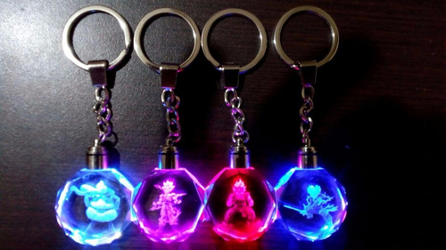 llavero dragon ball z luz led multicolores+ estuche original