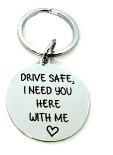 llavero drive safe de acero inoxidable llav3302