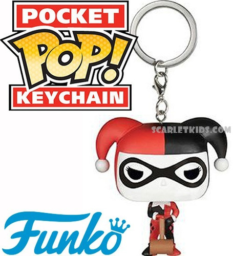 llavero funko pop harley quinn dc keychain scarlet kids