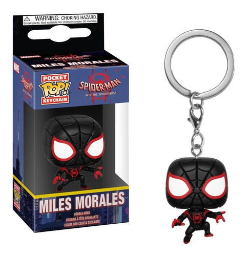 llavero funko pop miles morales - spiderman marvel original