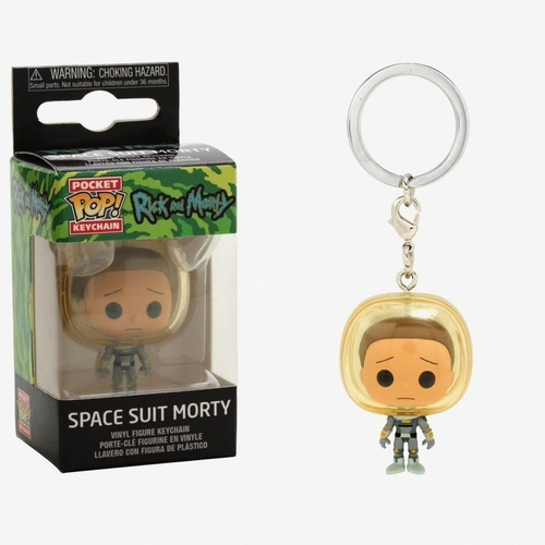 llavero funko pop! | rick and morty - morty space suit