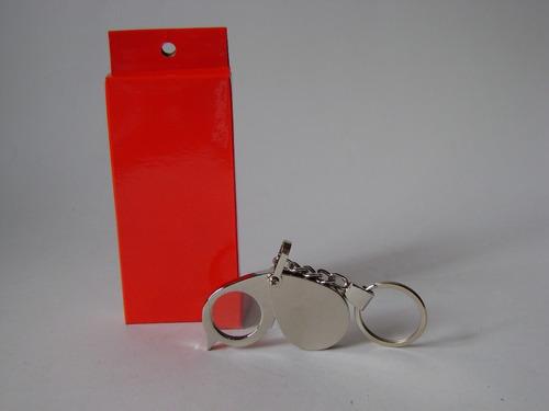llavero herramienta mini lupa compacta, portable y elegante