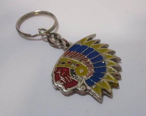 llavero indio piel roja pielroja de coleccion metalico