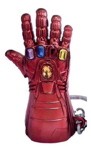llavero iron man guante rojo gemas infinito endgame thanos