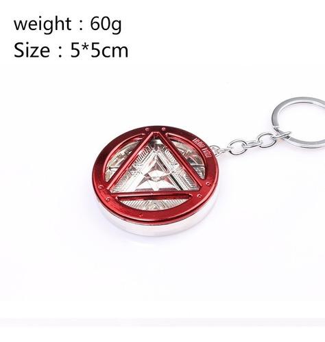 llavero iron man reactor arc red avengers stark envio gratis