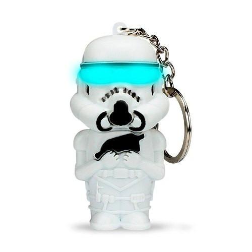 llavero linterna led y sonido star wars - stormtrooper