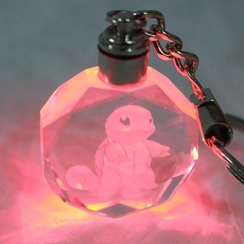 llavero luz led de cristal pokemon squirtle vamo a calmarno