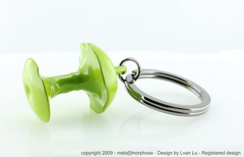 llavero manzana green apple metalmorphose mtm 944