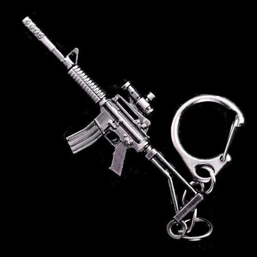 llavero metálico armas a escala fusil m4a1 asalto automático