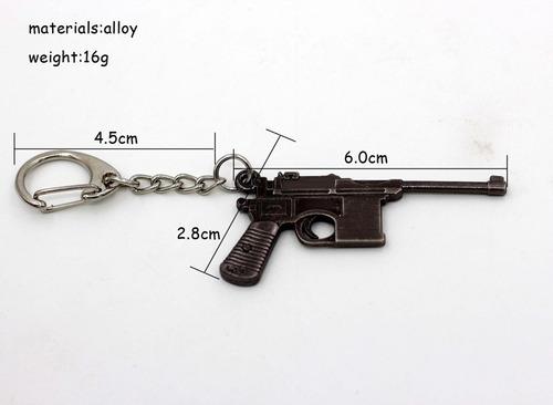 llavero metálico armas a escala pistola mauser c-96
