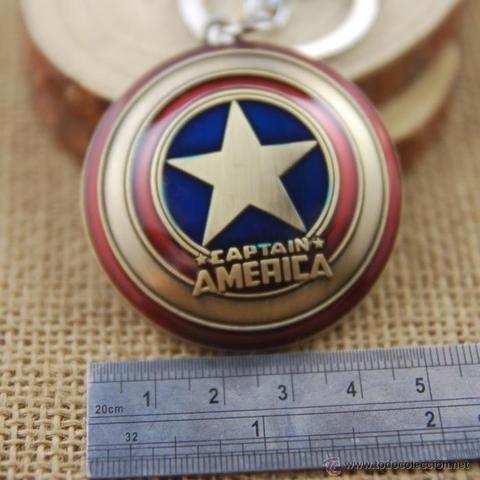 llavero metalico capitan america metal