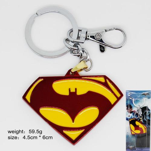 llavero metalico coleccionable superman batman