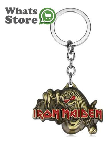 llavero metalico de coleccion rock iron maiden heavy metal