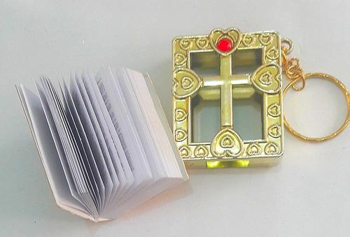 llavero mini biblia recordatorio sagrada escrituras español
