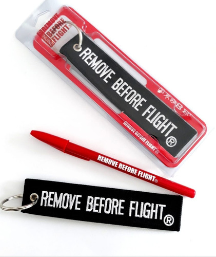 llavero  motociclismo black - remove before flight®