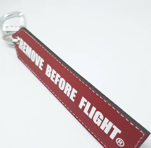 llavero motociclismo de piel - remove before flight®