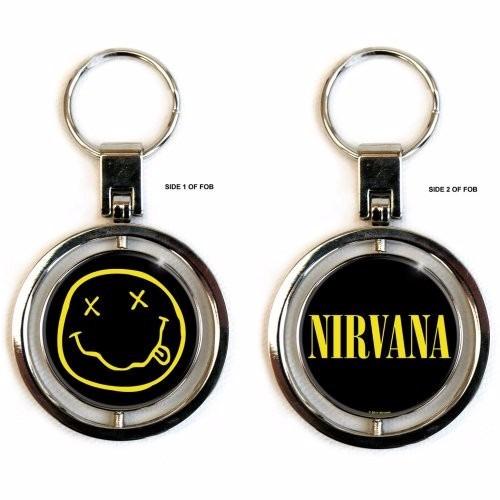 llavero nirvana metal giratorio smiley 5cm diámetro