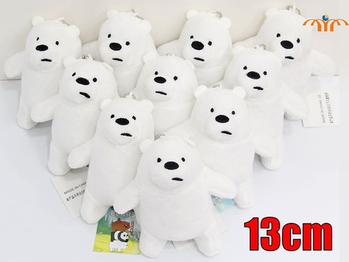 llavero peluche escandalosos we bare bears nom nom