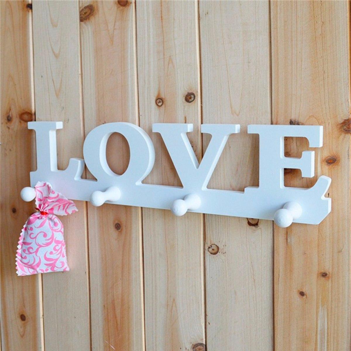 Llavero perchero porta llaves con palabra love blanco h4079 en mercado libre - Porta llaves pared ...