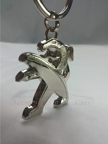 llavero peugeot 208 308 508 2008 cromados modelos variados