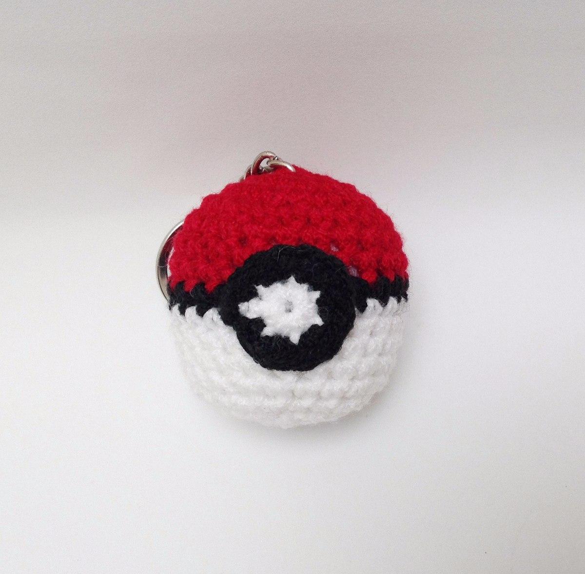 Llavero Pokebola Amigurumi Crochet - $ 30.00 en Mercado Libre