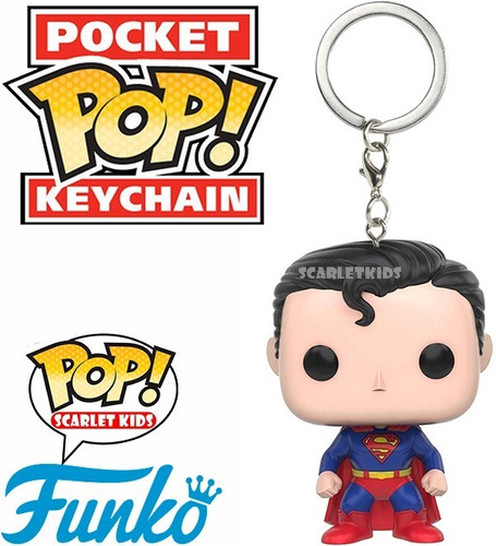 llavero pop superman dc funko pocket pop! scarlet kids