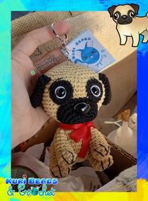 Llavero Perro Pug Amigurumi Tejido A Crochet Llavero - $ 220.00 en ... | 284x209