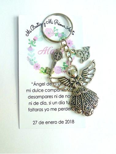 llavero recuerdo angel llave paloma bautizo comunión