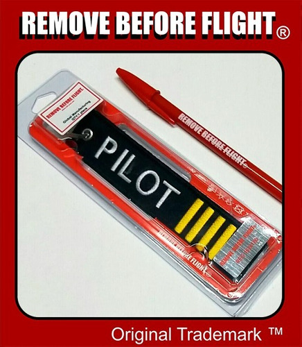 llavero remove before flight ® mod pilot 4 barras