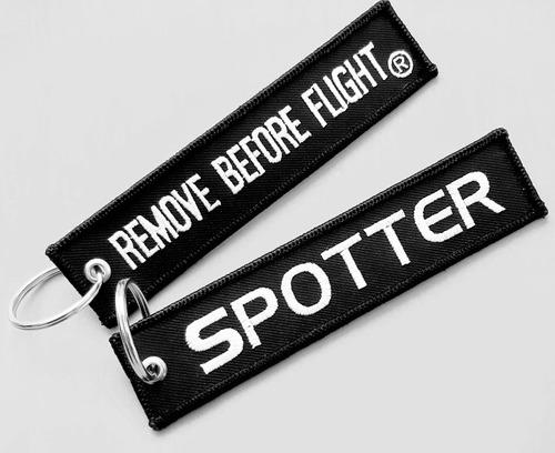 llavero remove before flight modelo spotter