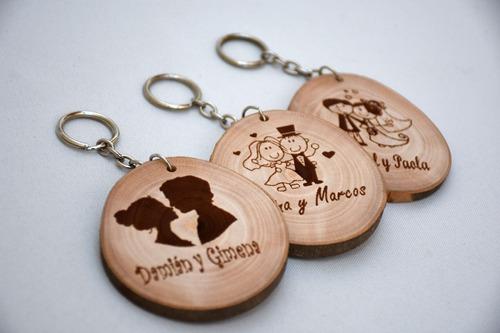 llavero rodaja souvenir casamiento personalizado - diám 5 cm