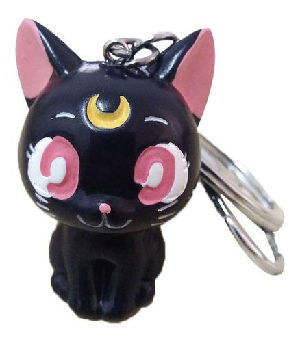 llavero sailor moon gato serena luna negro cat envio gratis
