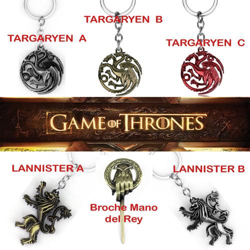 llavero stark targaryen lannister juego tronos game of thron