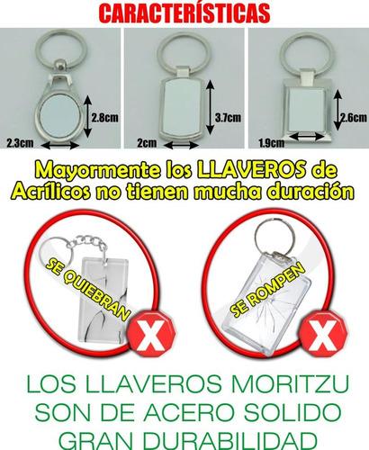 llavero sublimacion sublimable metalic x10 en caja   moritzu