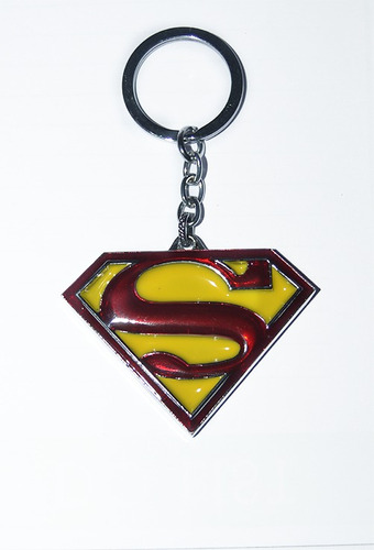 llavero superman acero coleccion original