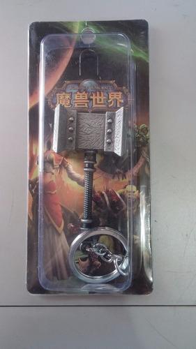llavero world of warcraft doomhammer martillo maldito