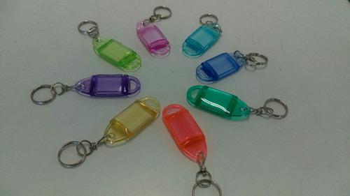 llavero/llavin identificador. 30 piezas/colores!