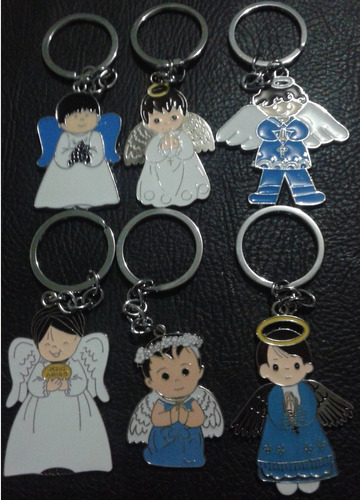 llaveros angel recuerdo-souvenirs 1ra cominion bautizo baby