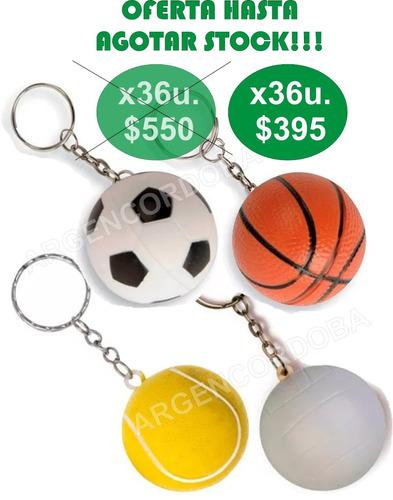 llaveros antiestres nauticos x36 futbol basket tenis oferta