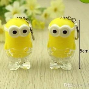 llaveros con luz minion cotillon luminoso souvenir emoji