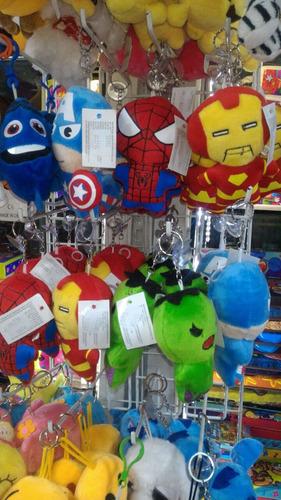 llaveros de superheroes marvel en peluche