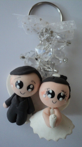 llaveros -encintados souvenirs , para matrimonio
