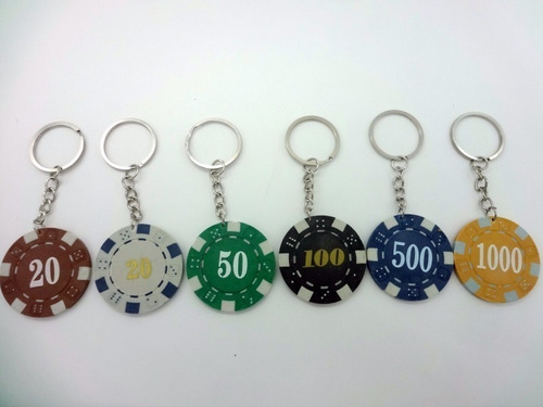 llaveros fichas poker , todos los colores -entrega inmediata