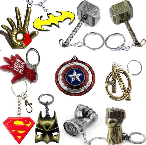llaveros marvel/dc superman batman martillo de thor endgame