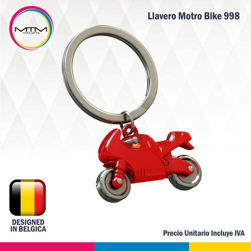 llaveros motos 3d ninja bike roja original mtm.  banimported