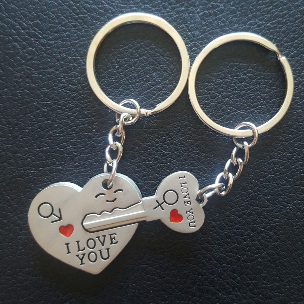 d136296c60a5 Llaveros Para Parejas Corazón Con Llave Pequeña -   99.00 en Mercado ...