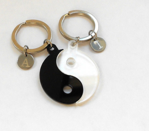 llaveros personalizados para parejas yin yang regalos novios
