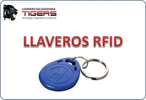 llaveros rfid, color azul